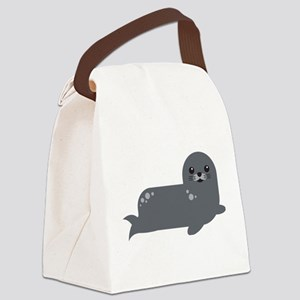 Cute Baby Seal Canvas Lunch Bag