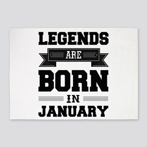 Legends Are Born In January 5'x7'Area Rug