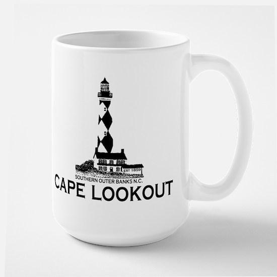 Cape Lookout NC - Lighthouse Design Mugs