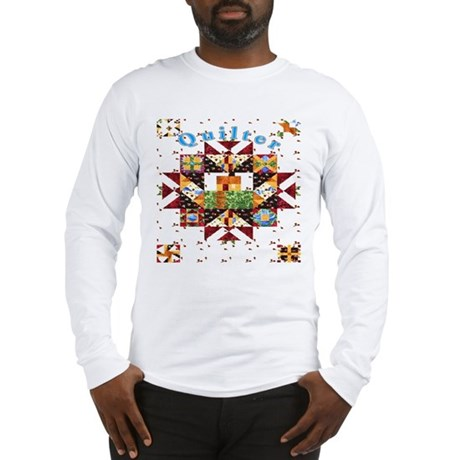 Country Cottage Quilter Long Sleeve T-Shirt