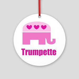 Trumpette Round Ornament