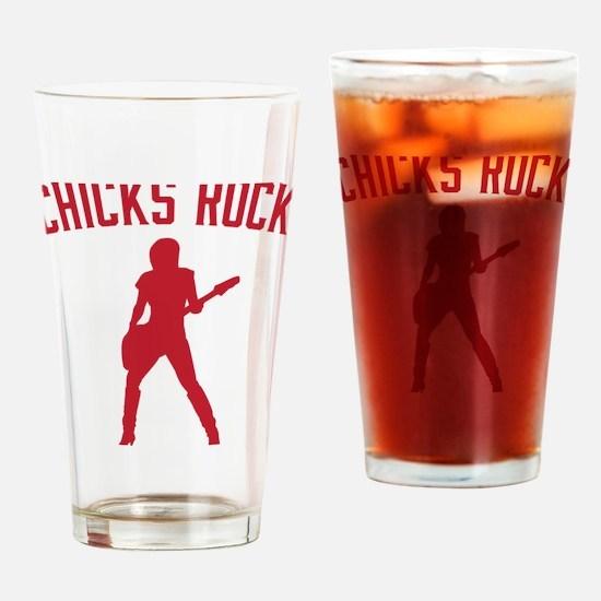 Cool Womens baseball Drinking Glass