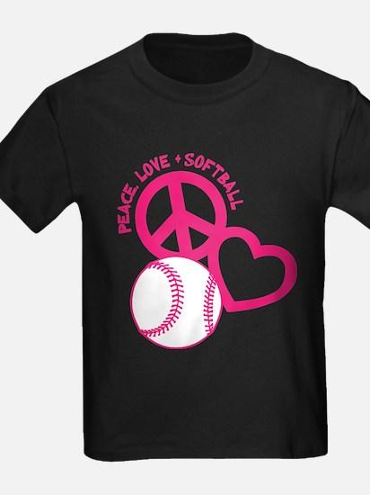 P,L,Softball, melon T-Shirt