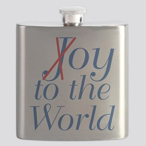 Oy to the World Flask