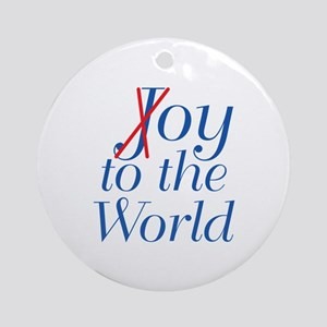 Oy To The World Round Ornament