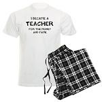 Teacher for Money and Fame Men's Light Pajamas