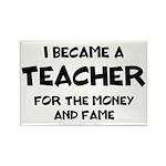 Teacher for Money and F Rectangle Magnet (10 pack)