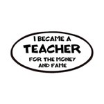 Teacher for Money and Fame Patch
