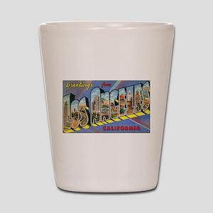 Los Angeles Vintage Shot Glass