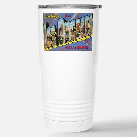 Los Angeles Vintage Stainless Steel Travel Mug