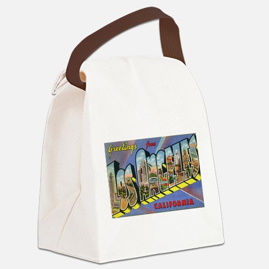 Los Angeles Vintage Canvas Lunch Bag
