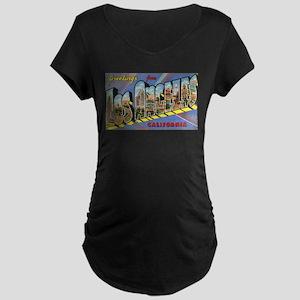 Los Angeles Vintage Maternity Dark T-Shirt