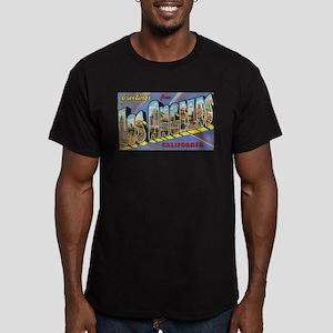 Los Angeles Vintage Men's Fitted T-Shirt (dark)