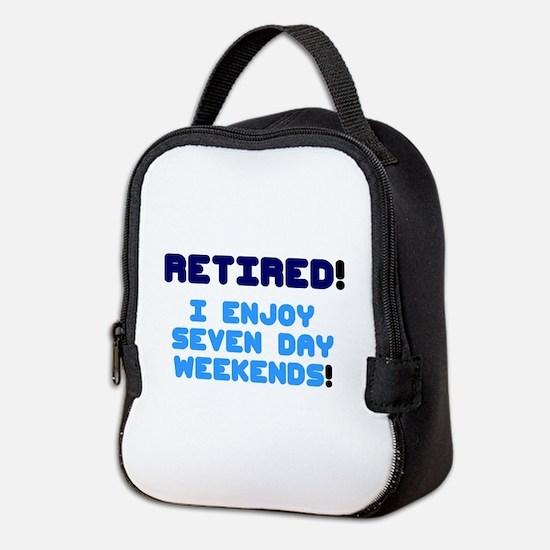 RETIRED - I ENJOY SEVEN DAY WEE Neoprene Lunch Bag