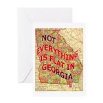 Flat Georgia Greeting Card