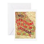 Flat Georgia Greeting Cards (Pk of 10)