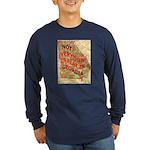 Flat Georgia Long Sleeve Dark T-Shirt