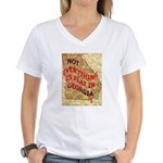Flat Georgia Women's V-Neck T-Shirt