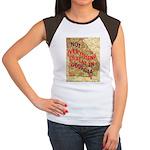 Flat Georgia Women's Cap Sleeve T-Shirt