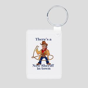 Trump New Sheriff 2017 Keychains