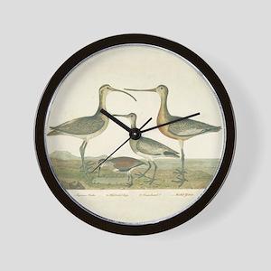 Antique Birds Coastal Marsh Wall Clock