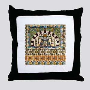 Tile Design 2 in Courthouse Throw Pillow