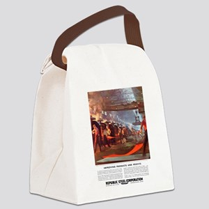Vintage Republic Steel Workers Canvas Lunch Bag