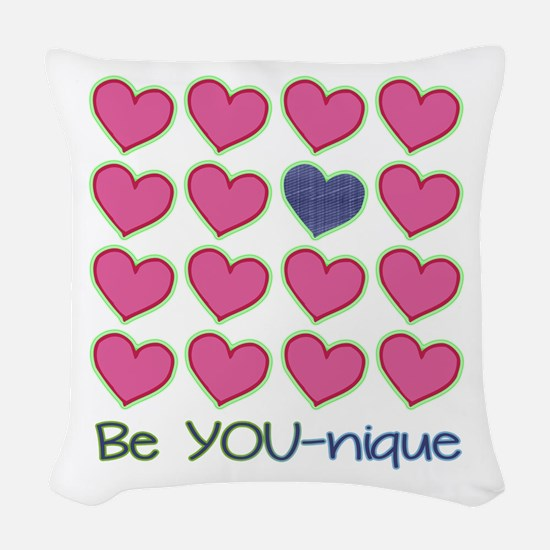Be YOUnique Woven Throw Pillow