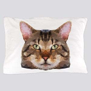 Tabby Cat Face Pillow Case