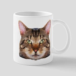 Tabby Cat Face Mugs