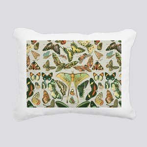 Butterfly pattern Vintag Rectangular Canvas Pillow