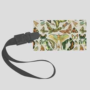 Butterfly pattern Vintage Papill Large Luggage Tag