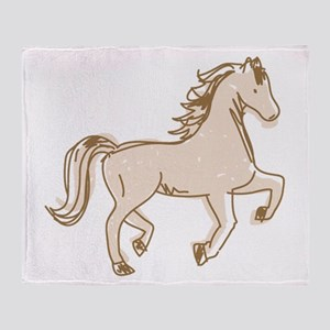 Pretty Ponies Throw Blanket