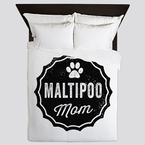 Maltipoo Mom Queen Duvet