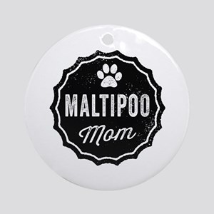 Maltipoo Mom Round Ornament