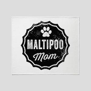 Maltipoo Mom Throw Blanket