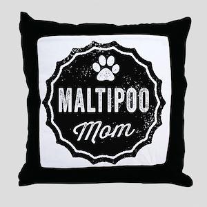 Maltipoo Mom Throw Pillow