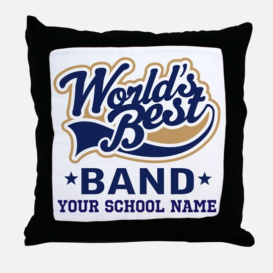 Worlds Best Band Personalized Throw Pillow