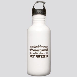 Woodworking and Wine Stainless Water Bottle 1.0L