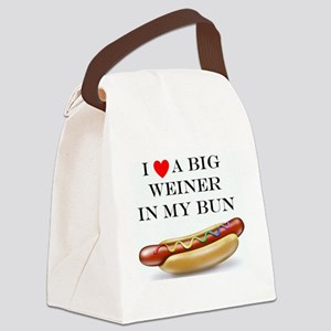 I Love Wiener Canvas Lunch Bag