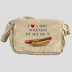 I Love Wiener Messenger Bag