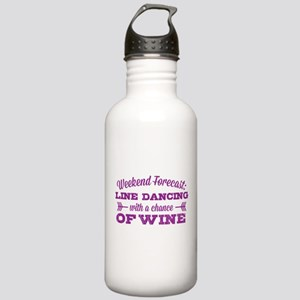 Line Dancing and Wine Stainless Water Bottle 1.0L