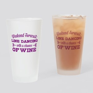 Line Dancing and Wine Drinking Glass