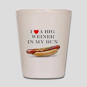 I Love Wiener Shot Glass