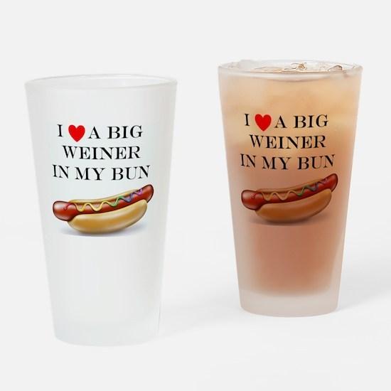 I Love Wiener Drinking Glass
