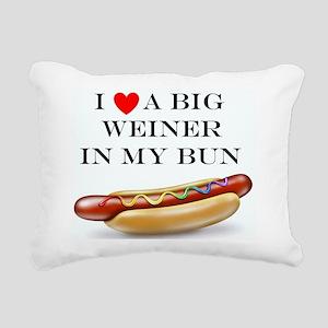 I Love Wiener Rectangular Canvas Pillow