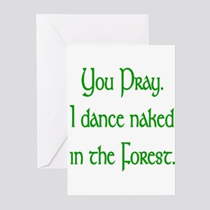 Naked Pagan Greeting Cards