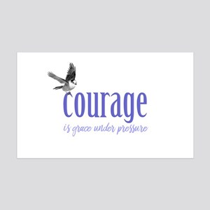 Courage 35x21 Wall Decal