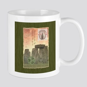 Stonehenge Postcard Collage Mugs