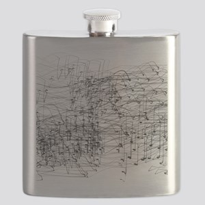 Staccato Music Sound Abstract Flask